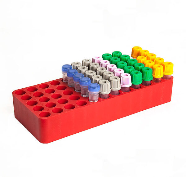 Autoclave test tube rack 1260A  in red